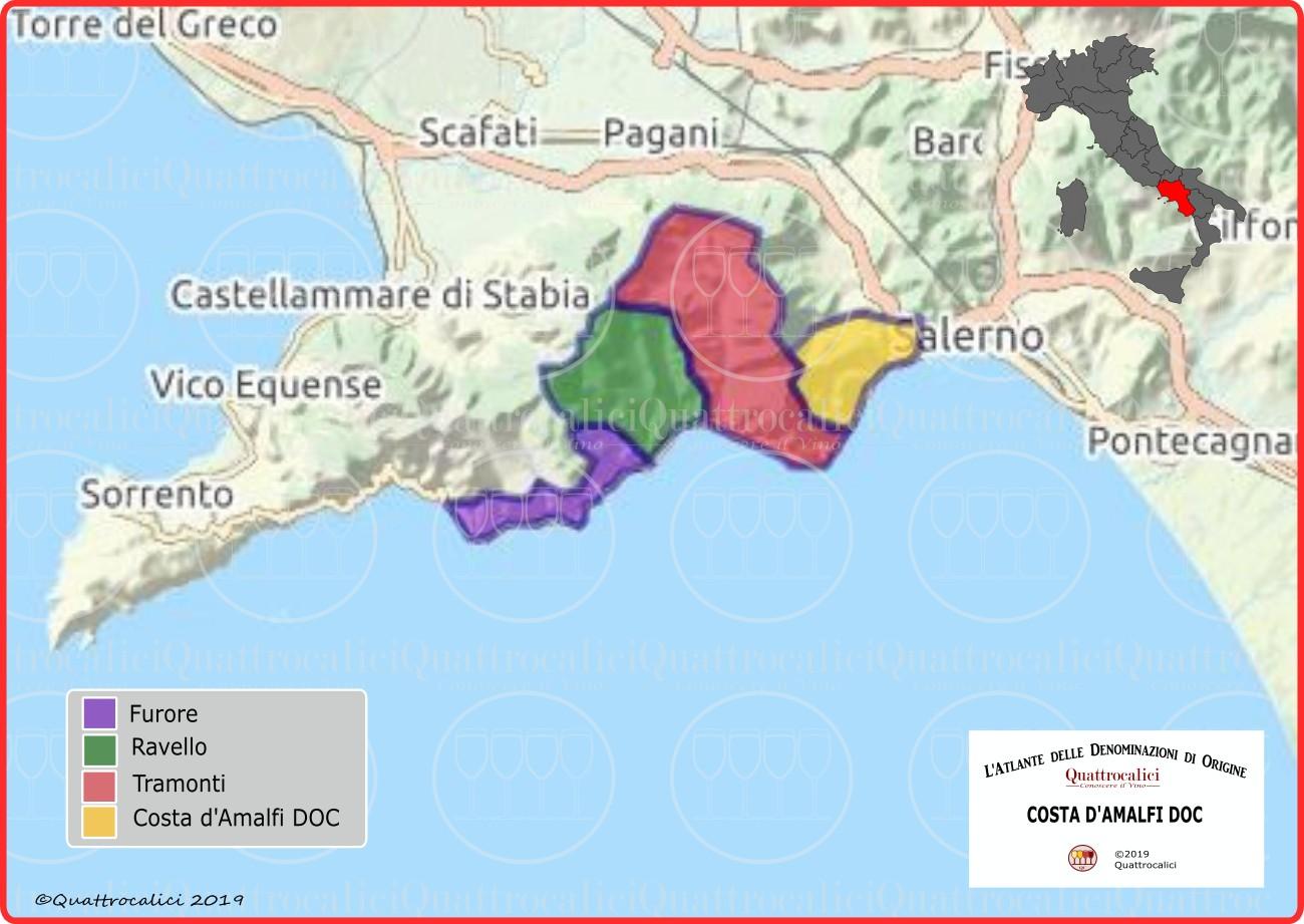 Costa d'Amalfi DOC cartina