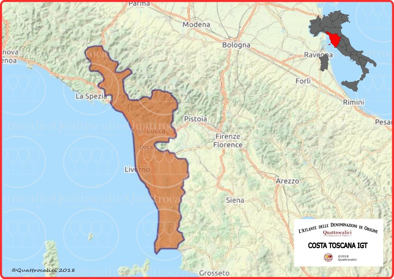 Costa Toscana IGT cartina