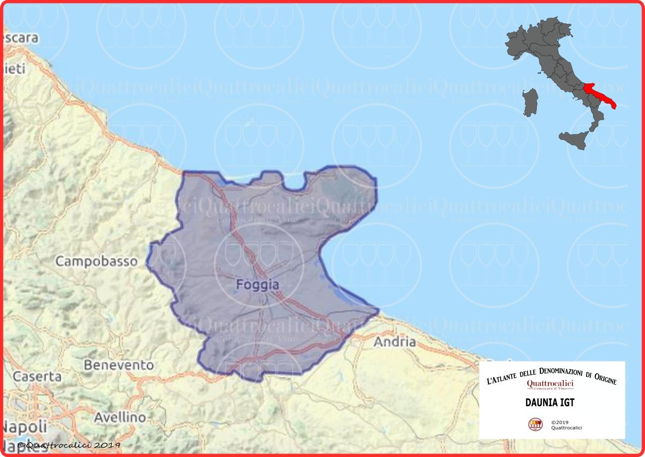 Daunia IGT Cartina