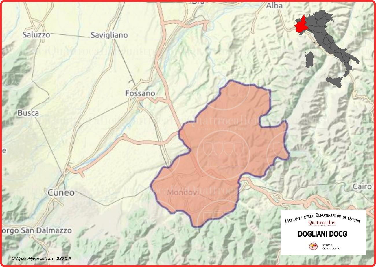 Cartina Dogliani DOCG