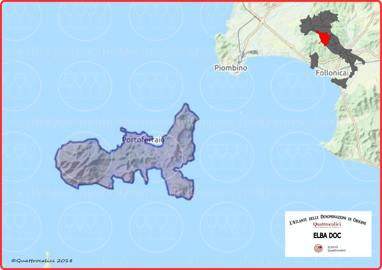 Cartina Elba DOC