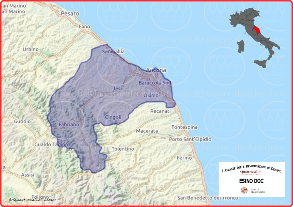 Cartina Esino DOC