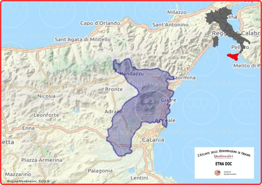 etna doc cartina