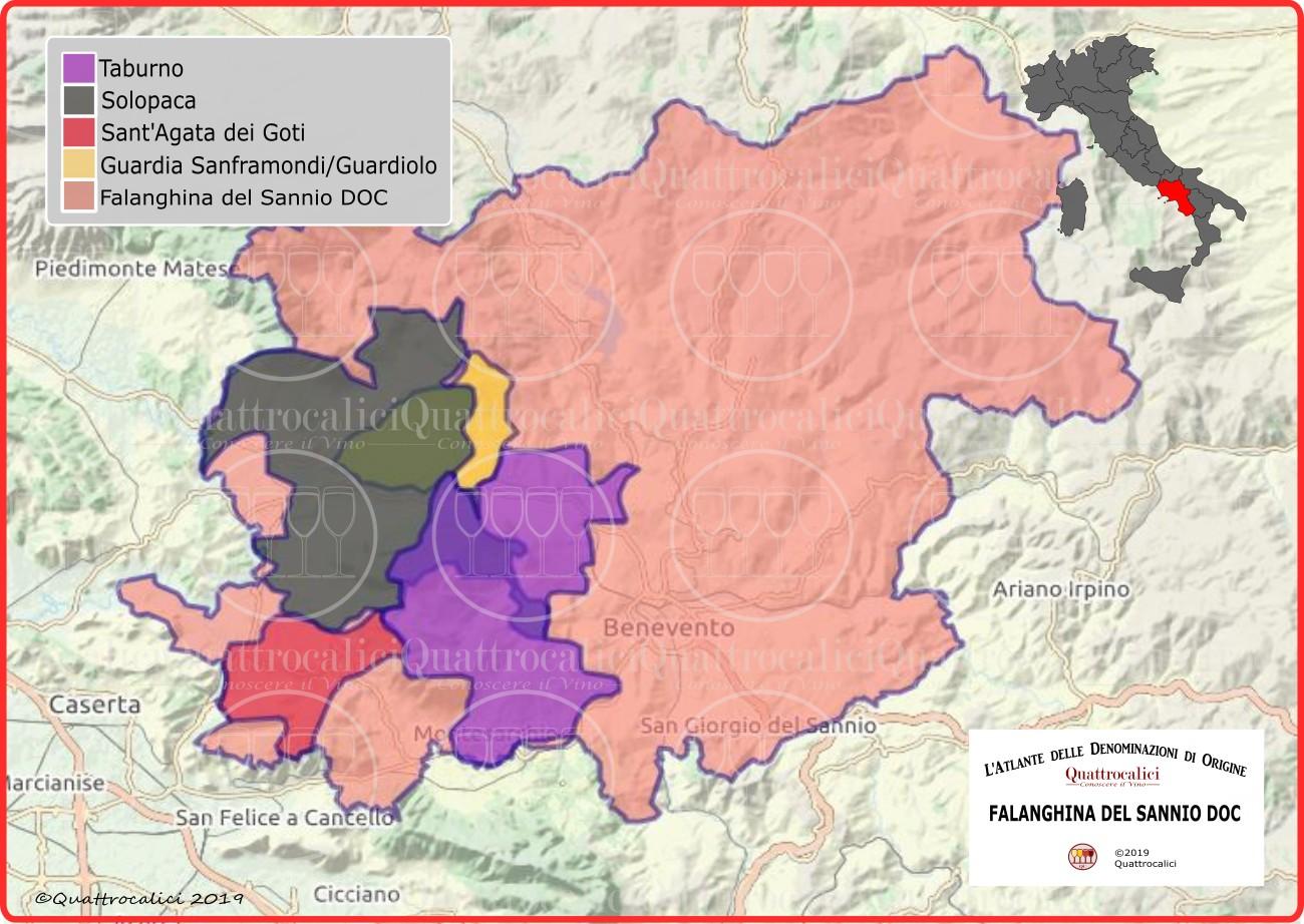 Falanghina del Sannio DOC cartina