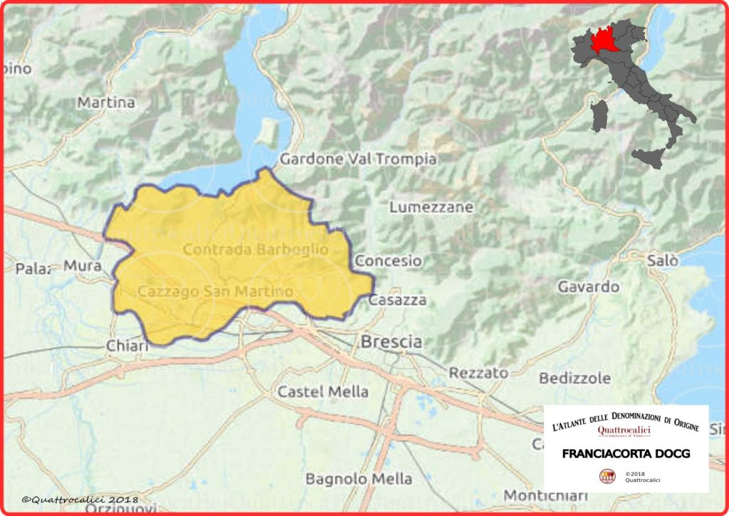 Franciacorta DOCG Cartina