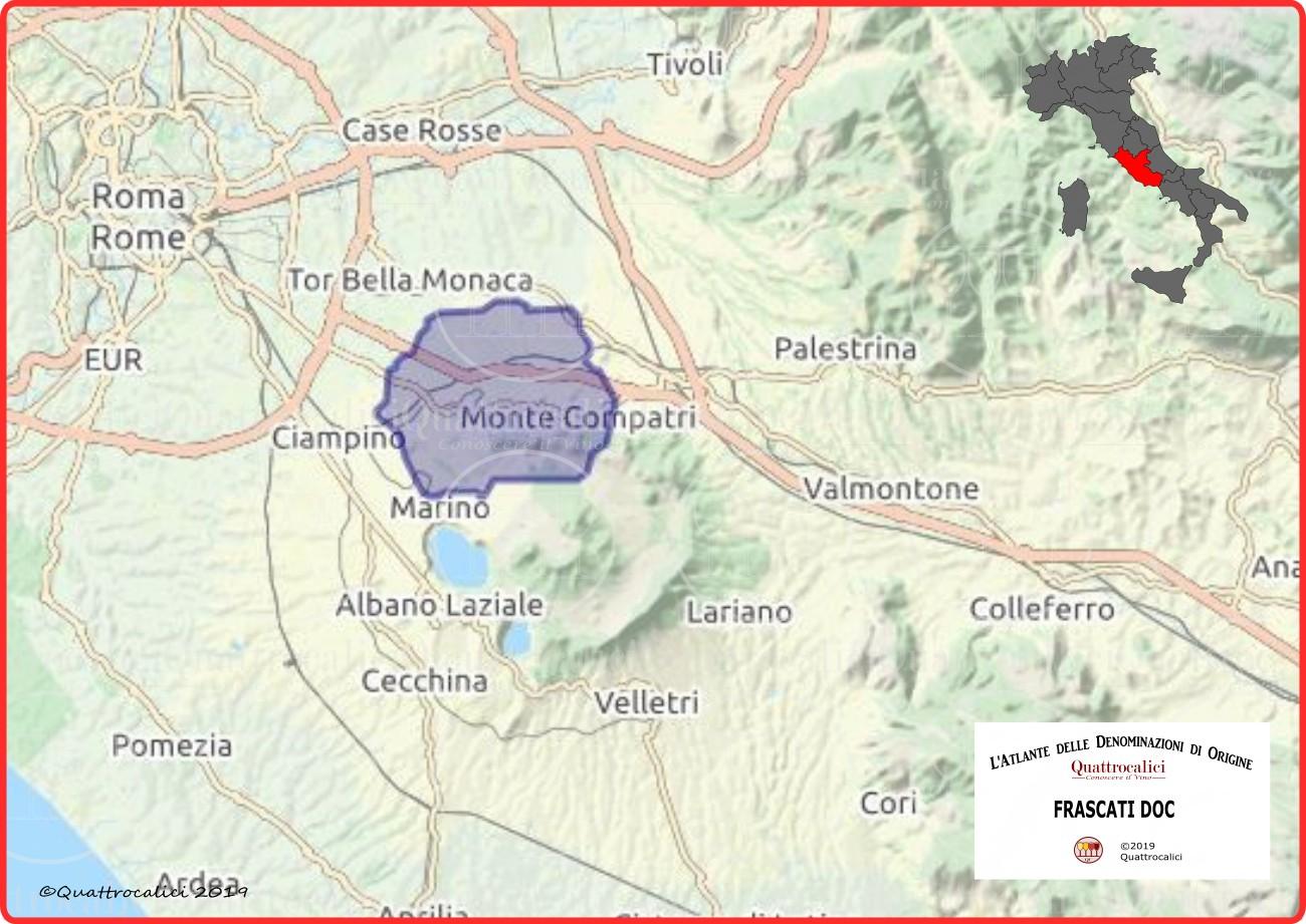 Frascati DOC Cartina Denominazione