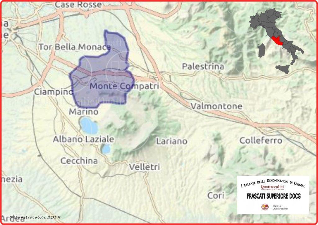 Frascati Superiore DOCG Cartina