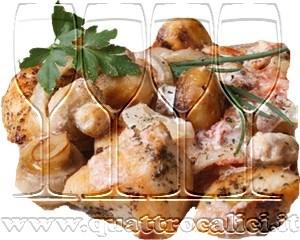 Fricassea di tacchino ai funghi porcini