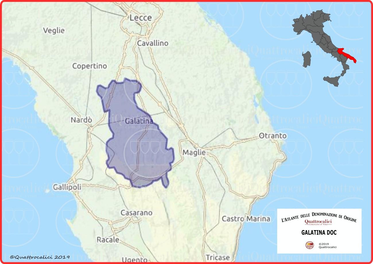 Galatina DOC cartina