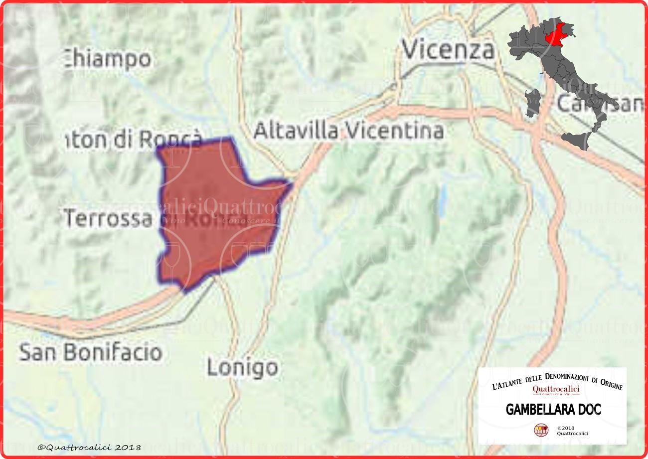 Cartina Gambellara DOC