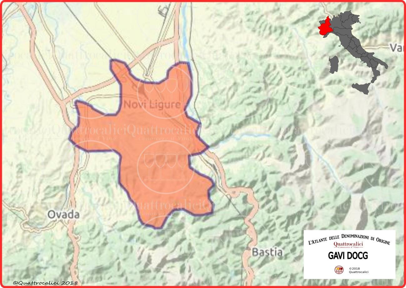 Cartina Cortese di Gavi DOCG