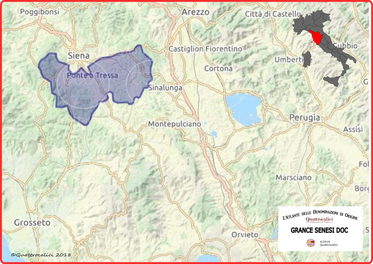 Cartina Grance Senesi DOC