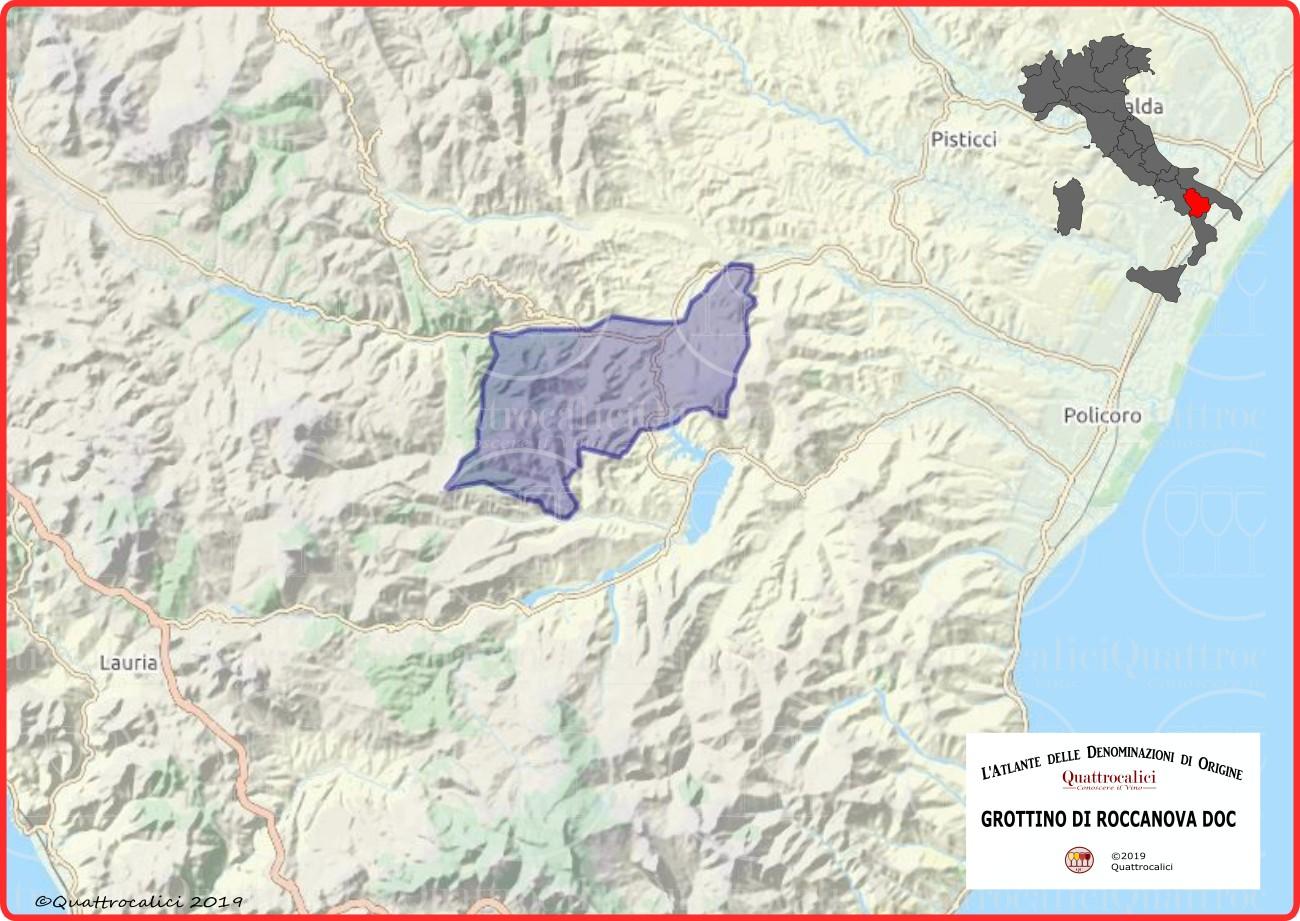 Grottino di Roccanova DOC cartina