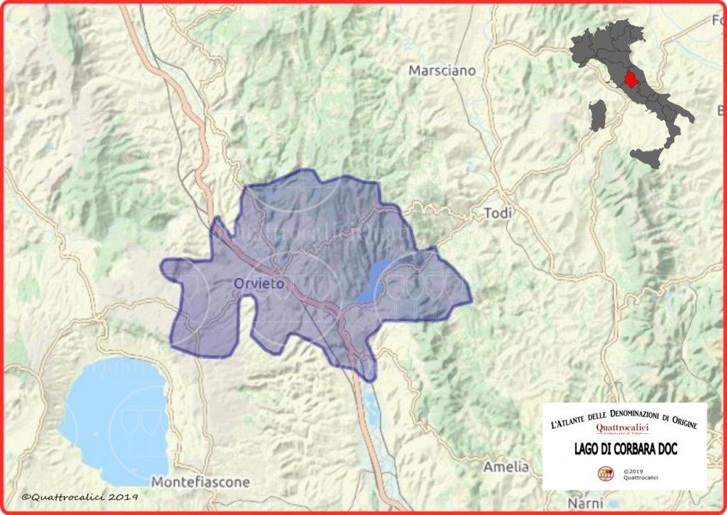 Lago di Corbara DOC Cartina
