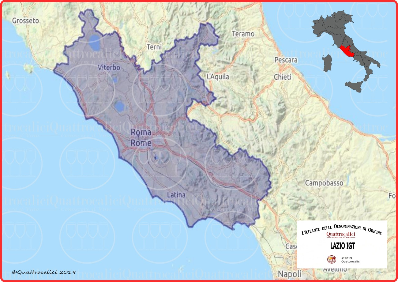 Lazio IGT Cartina