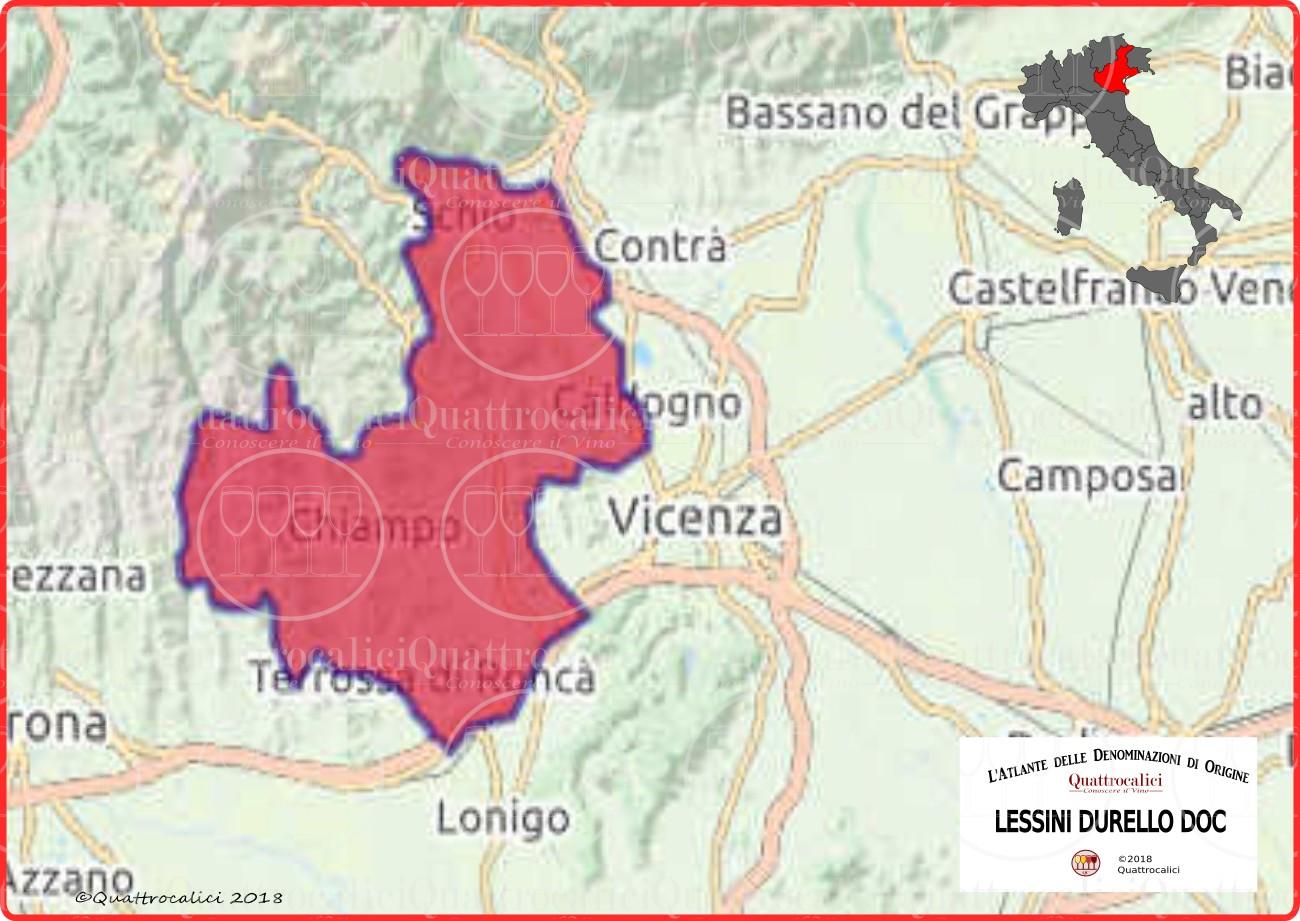 Cartina Lessini Durello DOC