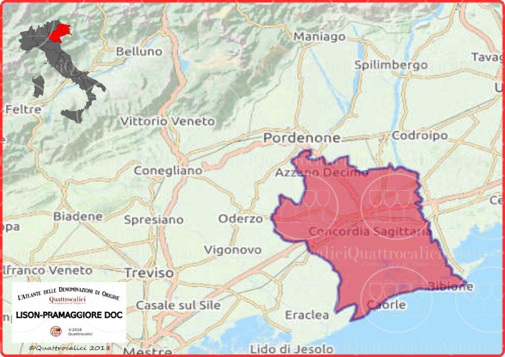lison-pramaggiore-doc-cartina