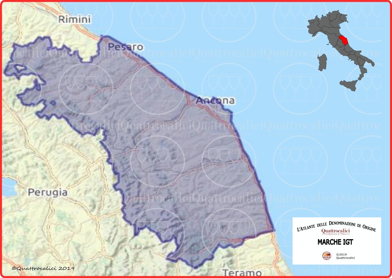Cartina Marche IGT
