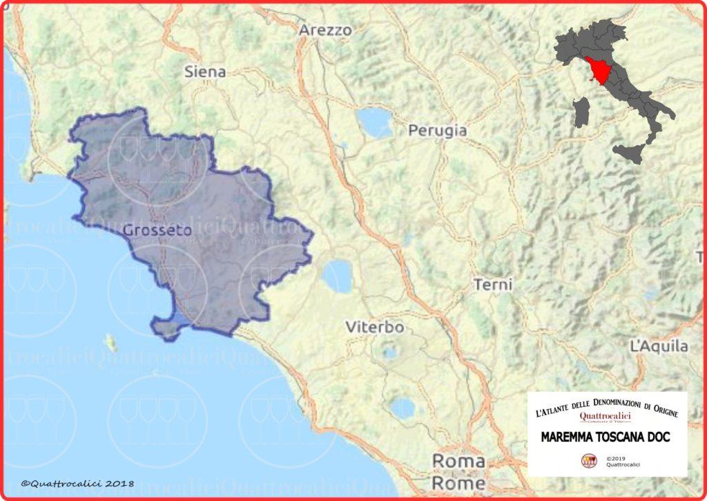 Cartina Maremma Toscana DOC