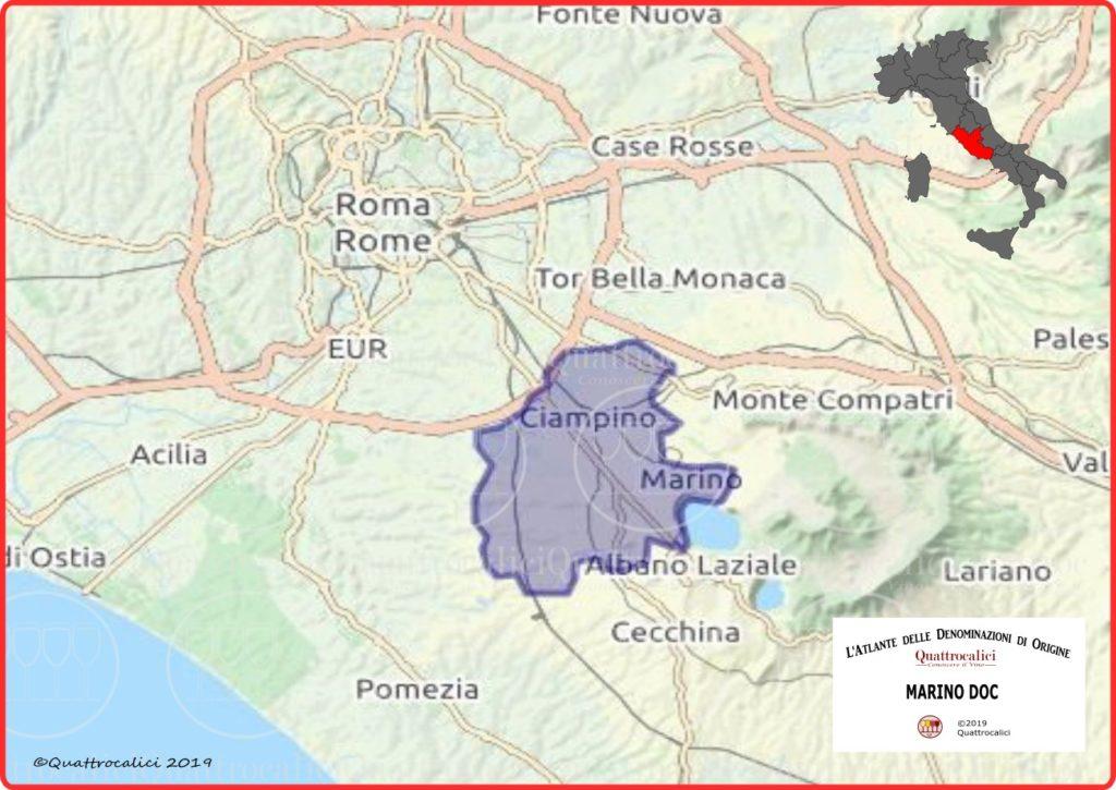 Marino DOC Cartina Denominazione