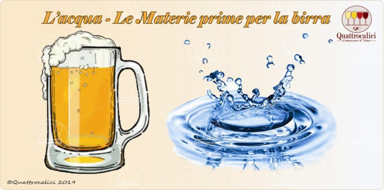 acqua - le materie prime per la birra