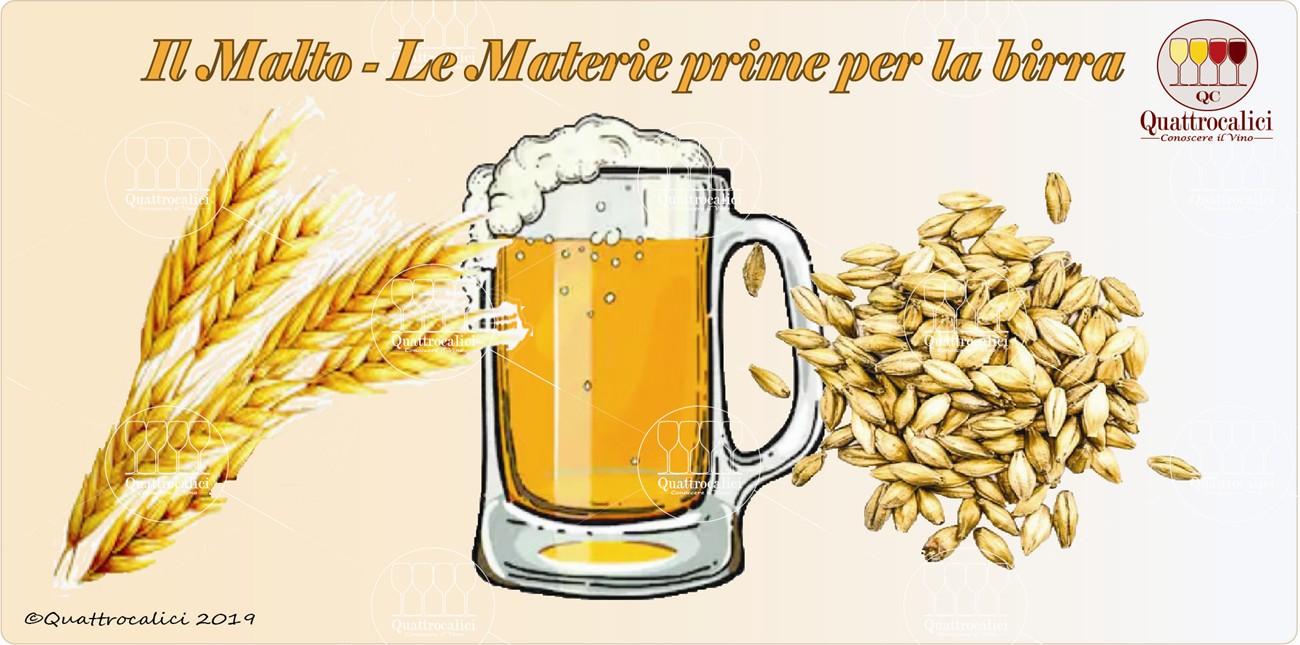 malto - le materie prime per la birra