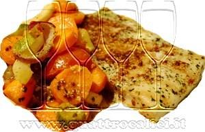 Merluzzo al forno con verdure