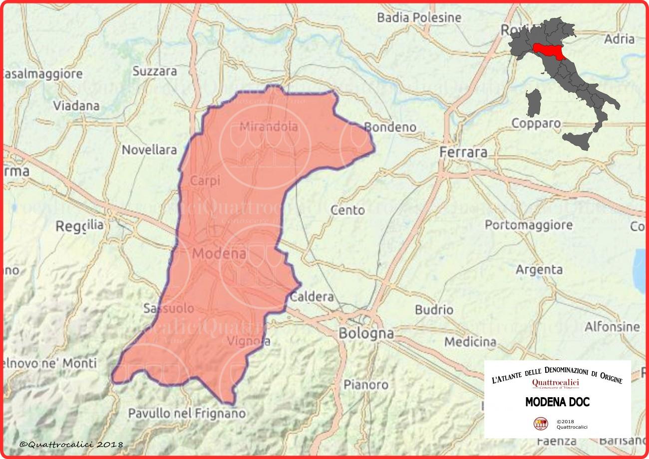 Modena DOC Cartina