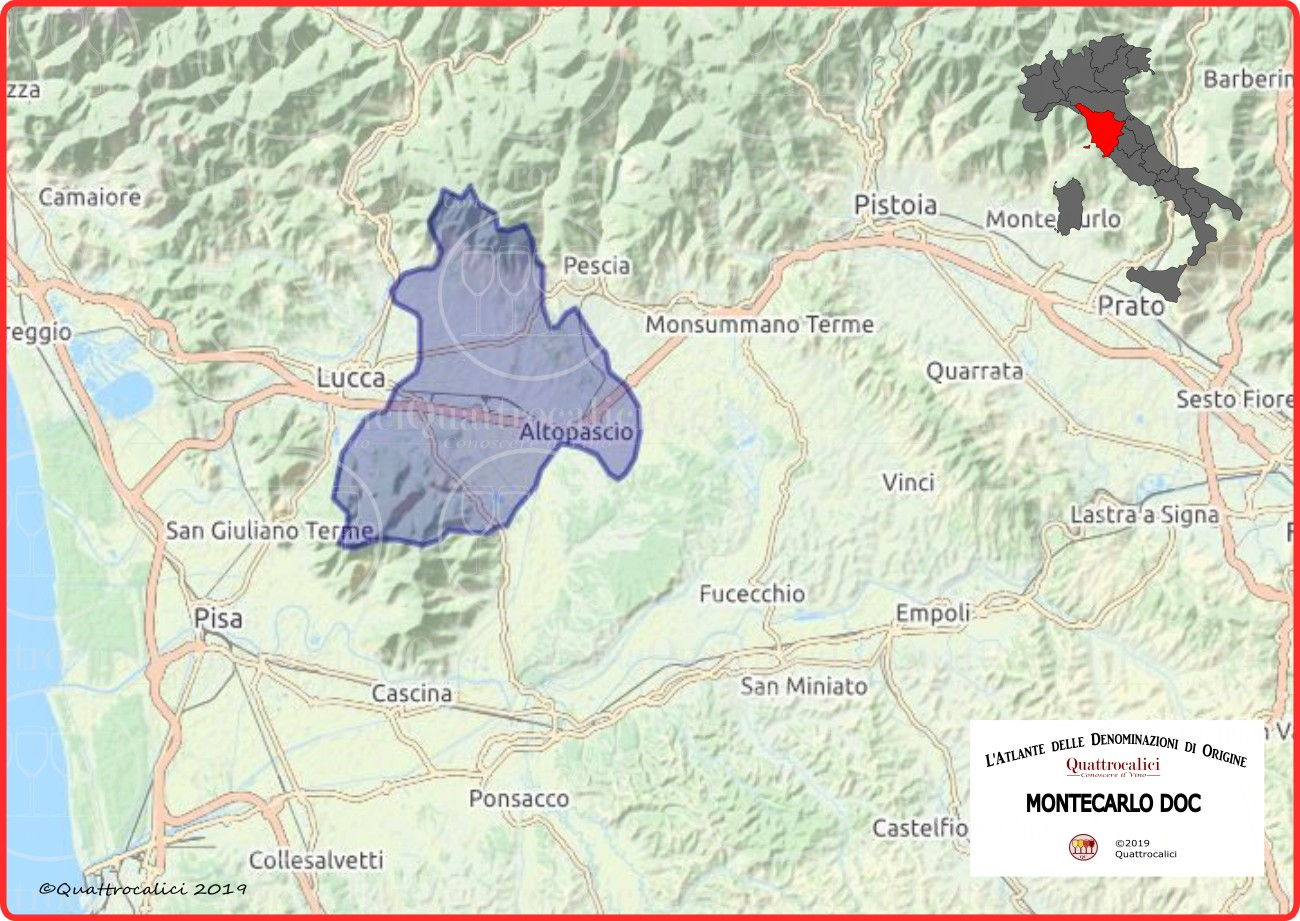 Cartina Montecarlo DOC