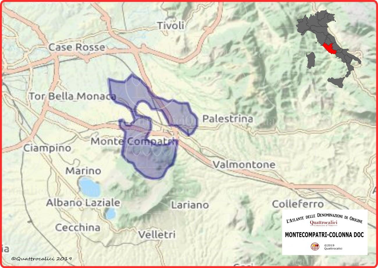 Montecompatri Colonna DOC Cartina Denominazione