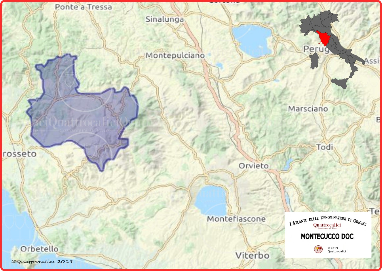 Cartina Montecucco DOC