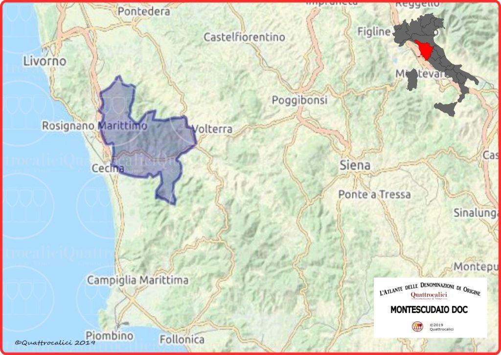 Cartina Montescudaio DOC