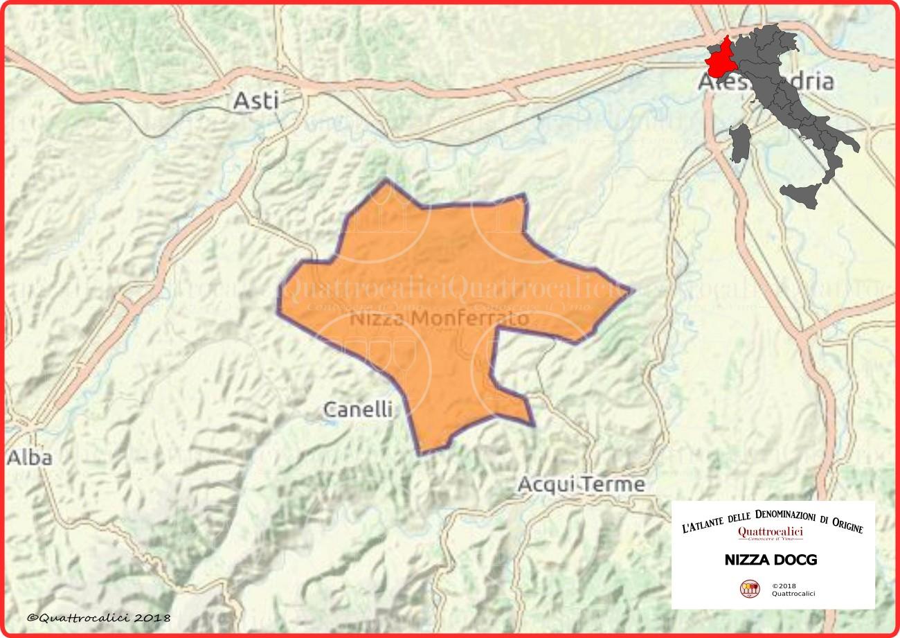 Cartina Nizza DOCG