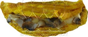 Omelette ai funghi e formaggio