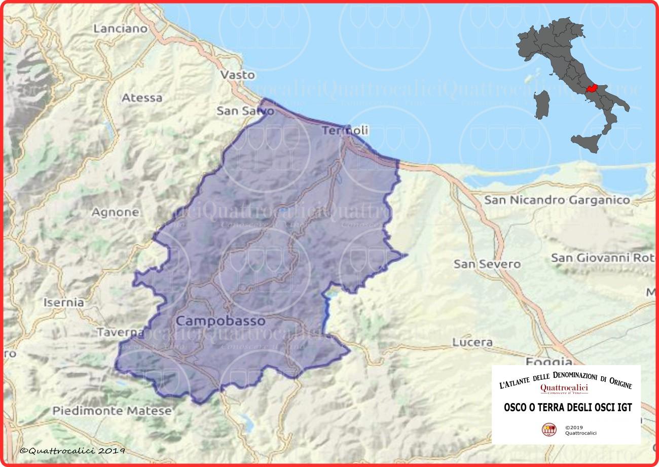 Osco o Terra degli Osci IGT cartina