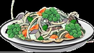 Piatti di pasta con erbe o verdure