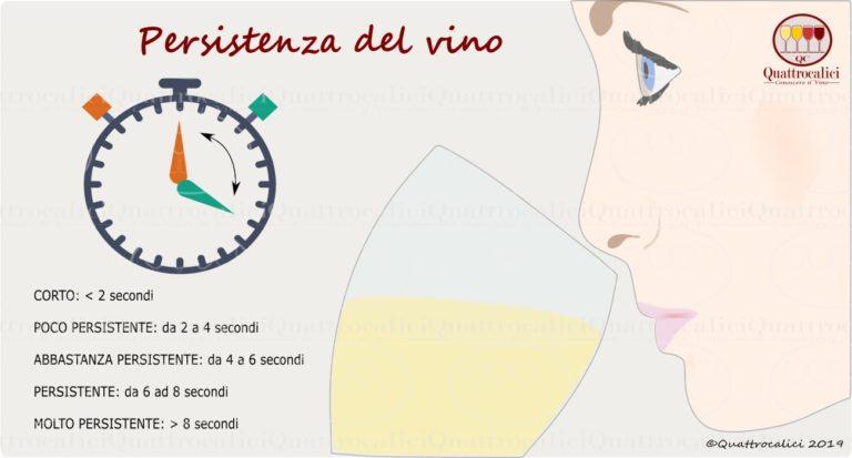 persistenza del vino