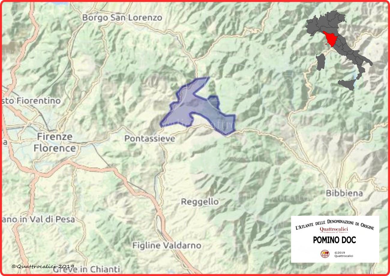 Cartina Pomino DOC