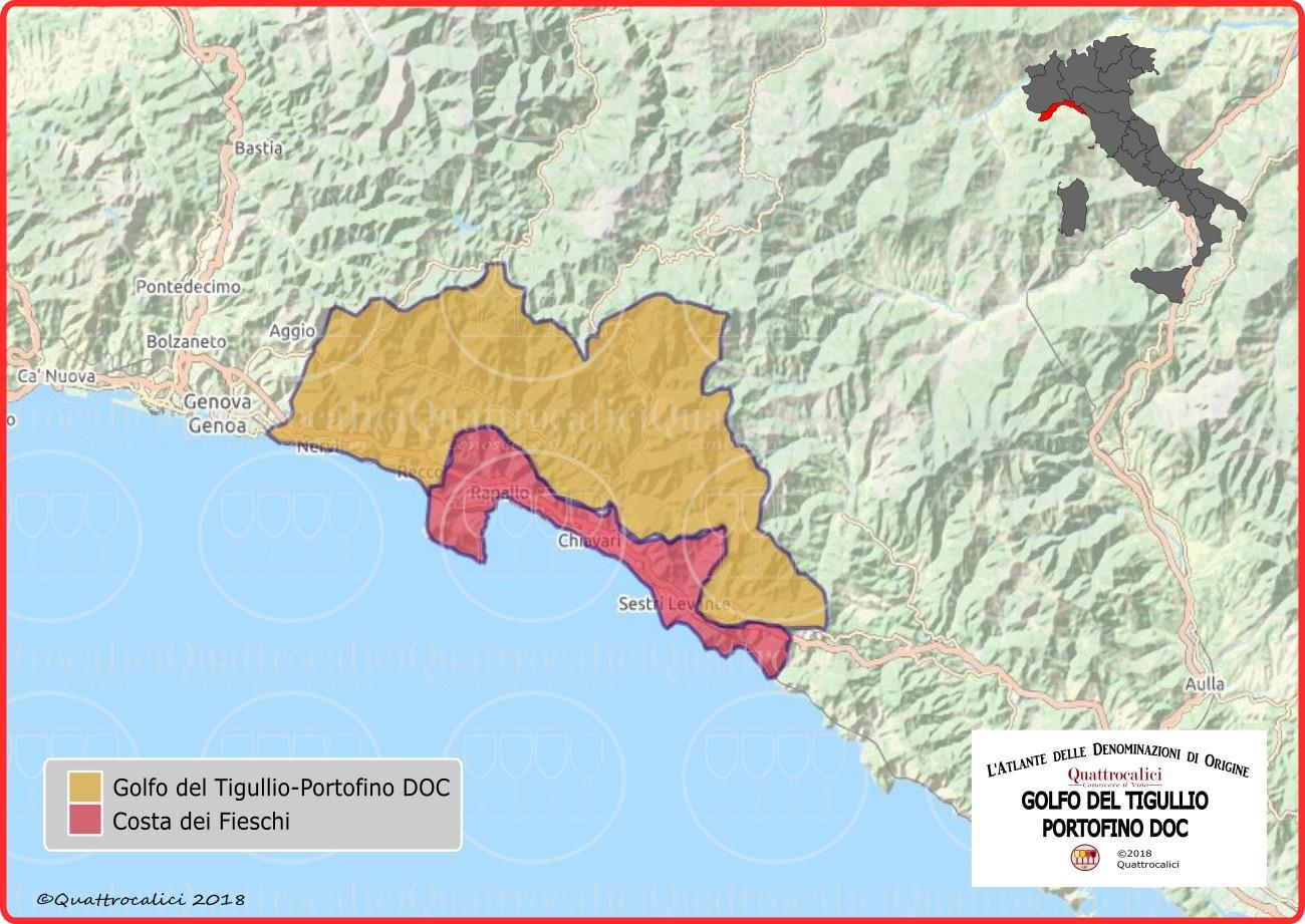 Golfo del Tigullio-Portofino DOC cartina