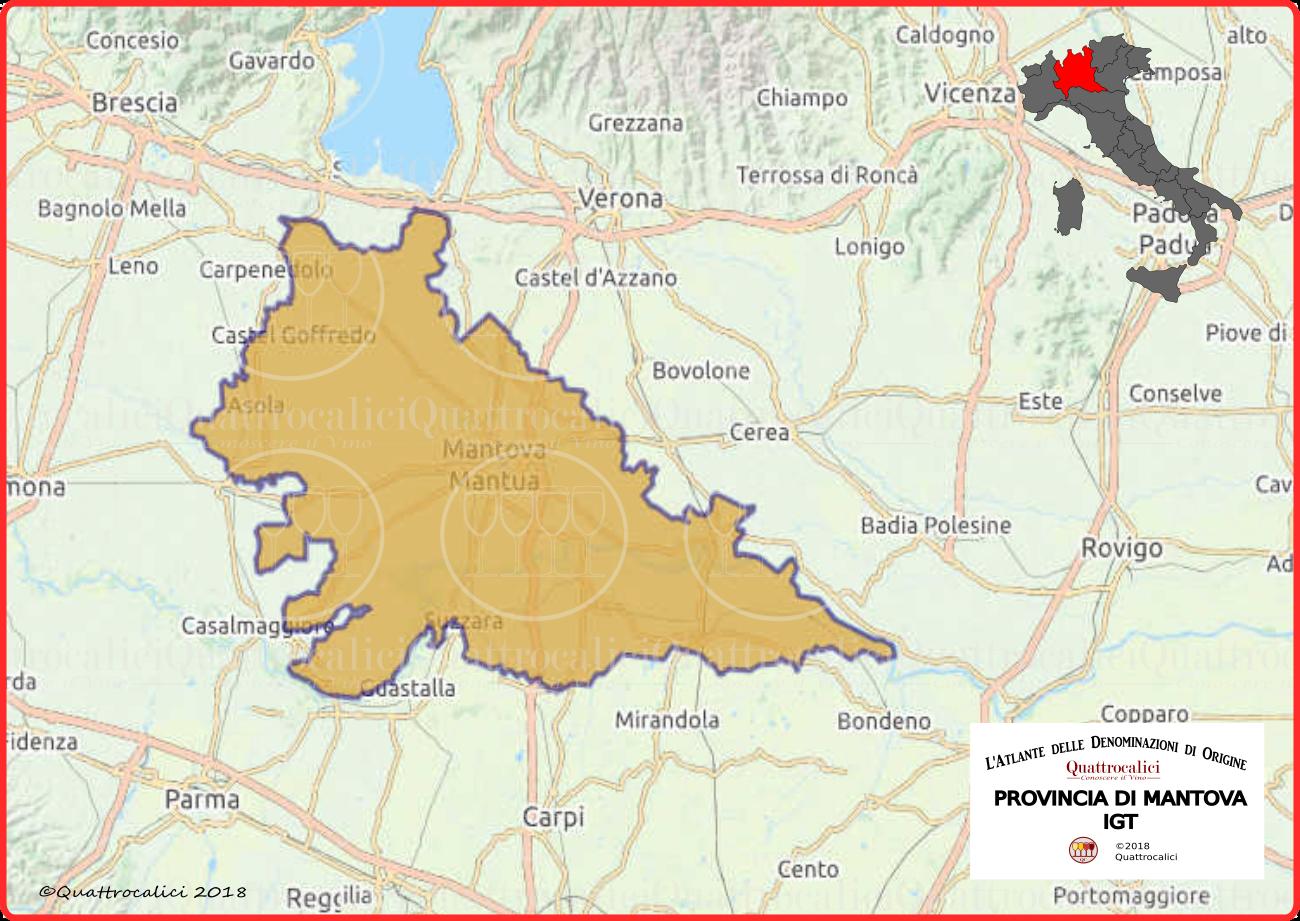 cartina provincia di mantova igt