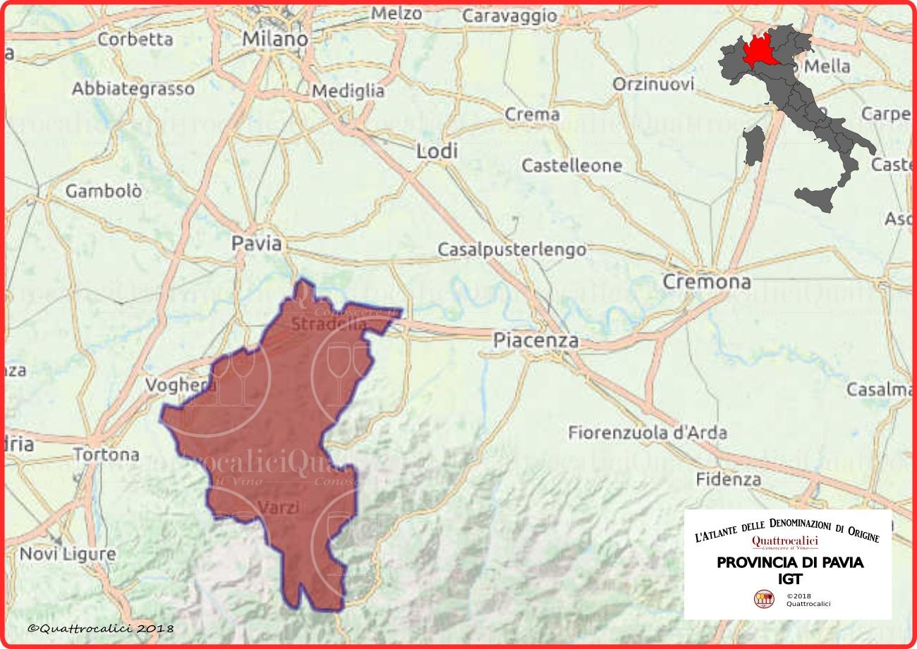Cartina Lombardia Pavia.Provincia Di Pavia Igt Quattrocalici Tutte Le Igt Della Regione Lombardia