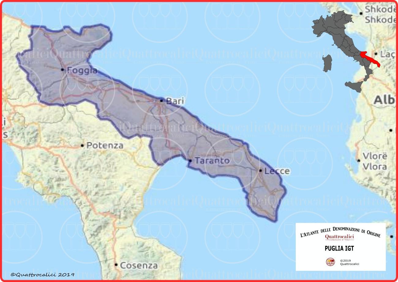 Puglia IGT Cartina