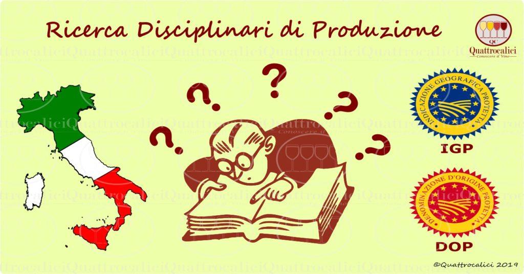 I disciplinari delle denominazioni di origine