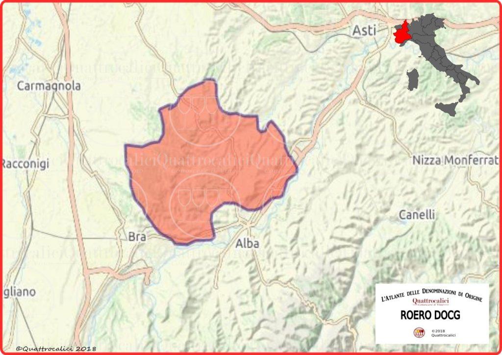 Cartina Roero DOCG