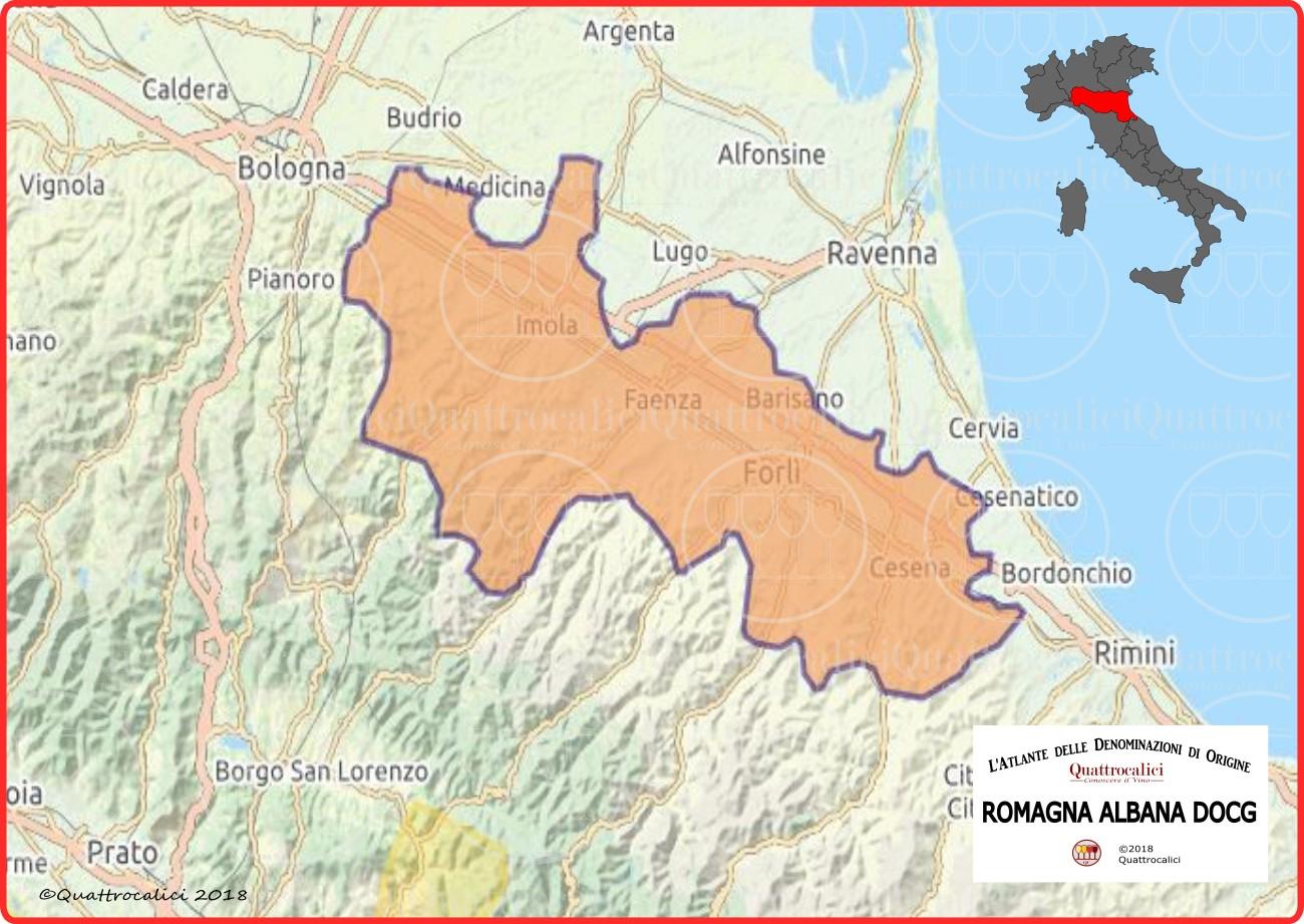 romagna albana docg cartina