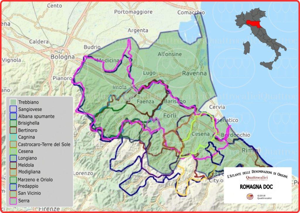Romagna DOC cartina