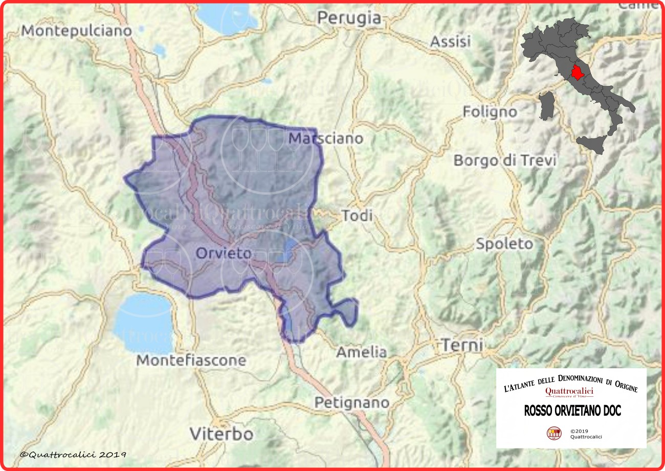 Rosso Orvietano DOC Cartina