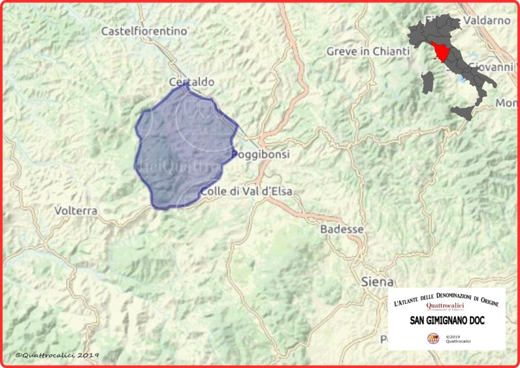 Cartina San Gimignano DOC