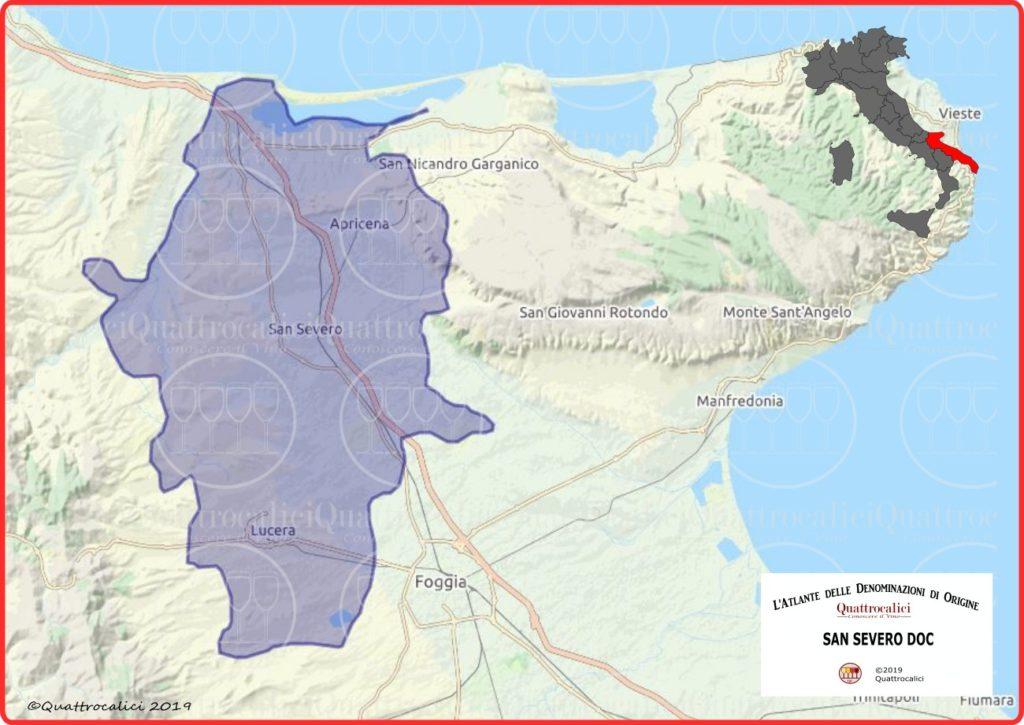 San Severo DOC cartina