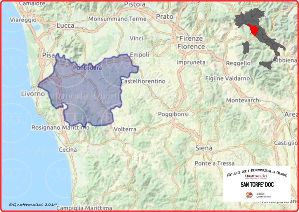 Cartina San Torpè DOC